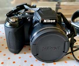 Nikon Coolpix L120 Black camera-case, 4AA rechargeable b,charger, 8GB