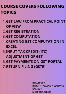 Practical training on gst and final accounts preparation
