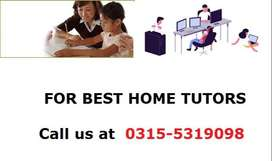 Jinnah Garden,PWD,BAHRIA,DHA (HOME Tutors Are Available)