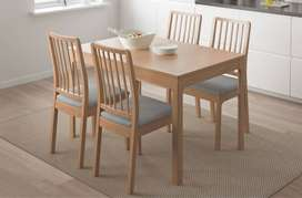 wooden dining table chairs for sale full set 4 chairs only 23k