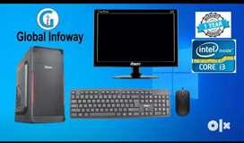 Intel i3 3rd gen computer with 1 year warranty
