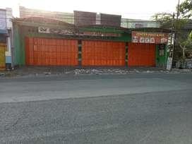 Jual bangunan toko siap pakai lokasi nol jalan raya