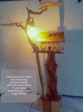 Lapu hias limbah kayu jati