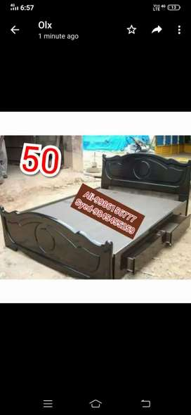 Wooden cot 4×6 size without box 4250 with storage 6500