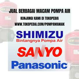 Jual Pompa Air Merk Shimizu, Sanyo, dan Panasonic