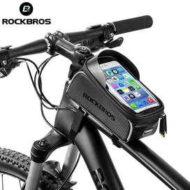 Rockbros Tas Sepeda Waterproof untuk 6.0 inch Smartphone