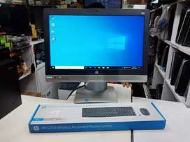 "Hp i3 6th gen all in one pc, 8gb ram, 240gb ssd, hd 22"" scren, windows"