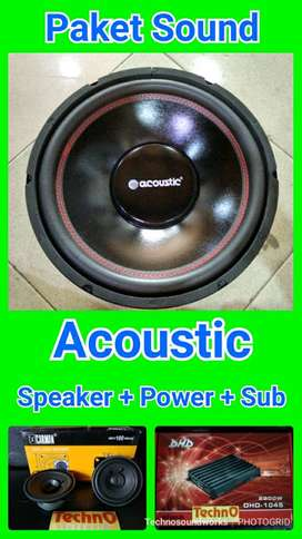 Paket sound audio Acoustic Speaker power sub for tv harga Murah