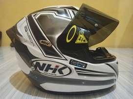 Jual Helm NHK GP Tech White full modif