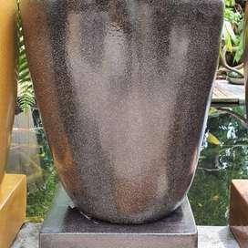 bak mandi custome natural batu tipe gelas minimalis