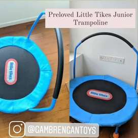 Trampolin Mainan Anak Preloved Little Tikes masih bagus