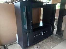 F18 meja tv atau bupet pajangan, warna full hitam, order by wa