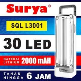 Surya Lampu Emergency SQL L3001 Light LED 30 SMD Rechargeable