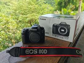 Dijual Canon 80D body only, kondisi bagus 2 tahun pemakaian
