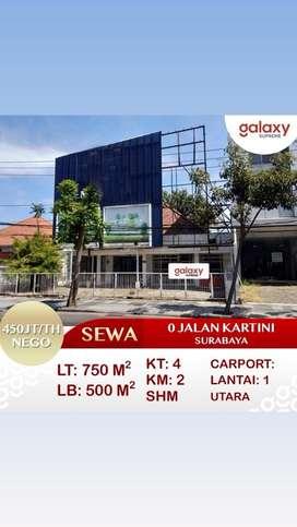 Disewakan Ruko 0 Jalan Kartini, Tegalsari, Surabaya