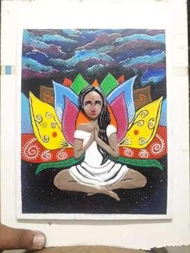 Acrylic canvas painting