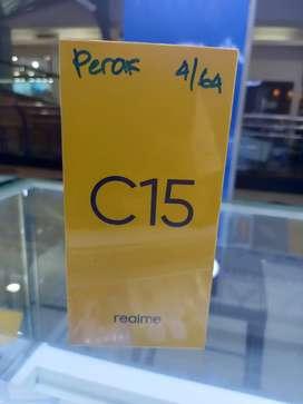 Realme c15 ram 4/64 garansi 1 thn barang baru