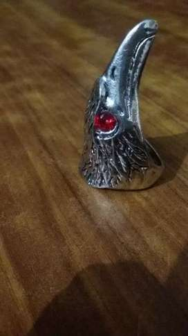 Eagle head ring for men size 18