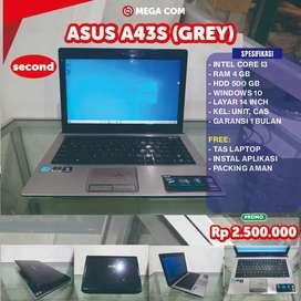 COD BISA, PROMO ASUS A43S RAM 4 GB SECOND MURAH BERGARANSI