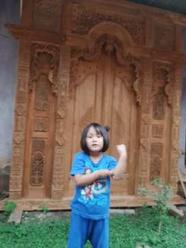 Cuci Gudang Pintu Gebyok Style Jawa Dan Bali 2 2.5 dan 3 meter udin