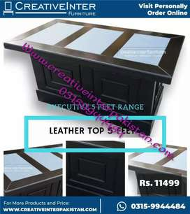 Office table leather economical Computer study workstation laptop bed