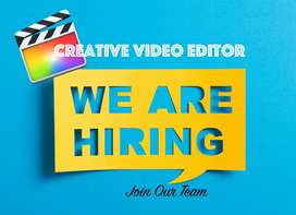 Wanted video editor ( Fresher / Experienced )