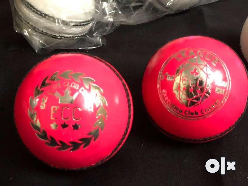 ECC League - Flamingo Pink Cricket Leather Balls 0
