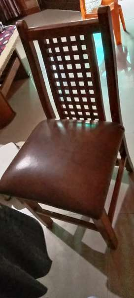 Chair brown in colour