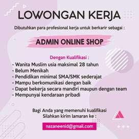 Lowongan Admin OnlineShop
