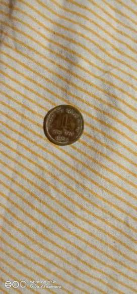 1 rupees old coin 1964