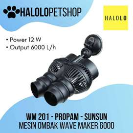 Mesin Ombak SUNSUN 6000 PROPAM WM 201 Wave Maker Aquarium