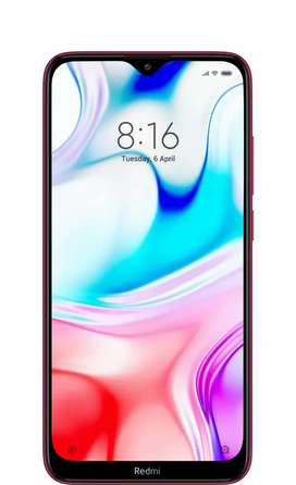 Redmi 8(4/64) Ruby Red Color - New Sealed pack