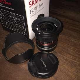 Lensa Samyang 12mm f 2 for Sony Second Fullset