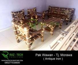 Kursi Tamu Bambu Tipe Antique Iron