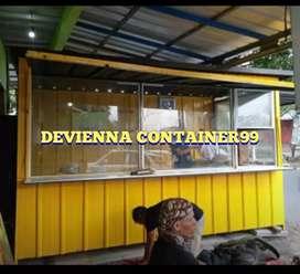 Booth Container kaca modern booth Container usaha booth jualan makanan