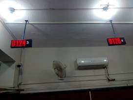 LED counter display IP-based for Queue Management System