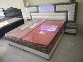 Heavy box bed with side tables at wholesaleprice