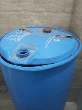 Blue water tank
