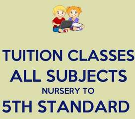 Tuitions Available UKG to 5th class
