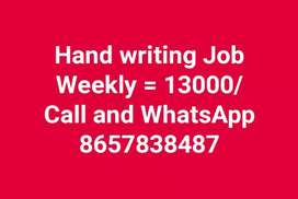 Hand writing job best income