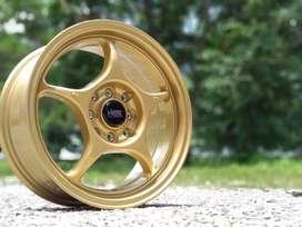 HSR WHEEL Ring 15x7 H4(100) Gold Utk Brio, Ayla, Mirage, March