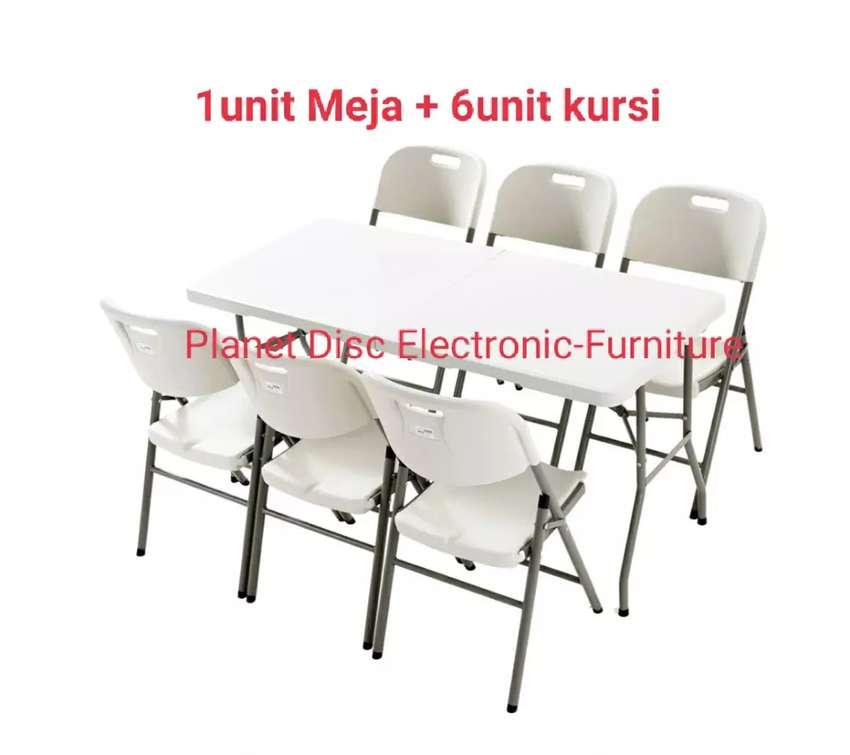 Meja Lipat Plastik set  Meja Cafe  Folding Table  Meja Restoran