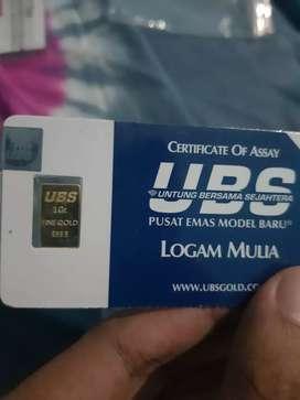 Emas Murni Batangan UBS 1 gram