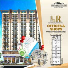 offices and shops bahria town karachi precinct 04 Liberty commercial
