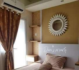 Disewakan Green Pramuka City, apartemen studio mewah cozy di atas Mall