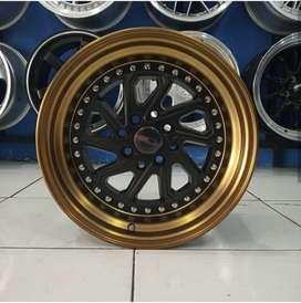 Velg Mobil Ring 16 HSR Wheel DOBO Black Broze Untuk Jazz Avanza dll