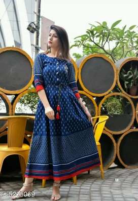 Brand New Women's Printed Cotton Blend Kurtis (COD Available)