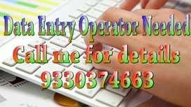 Data Entry operator Needed