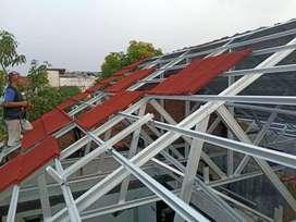 Rangka baja ringan atap