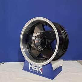 Velg racing mobil starlet merk HSR R15X7/8 pcd.4X100-114,3 ET30-25
